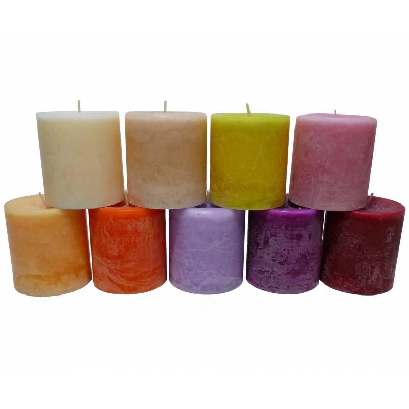 Bougie-de-Cire-Parfumee-Fruitee-ou-Florale-Cylindrique-pour-Photophores-ou-a-Pos