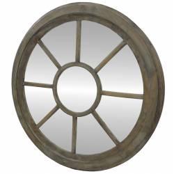 Miroir Rond style roue Ø 90cm Bois