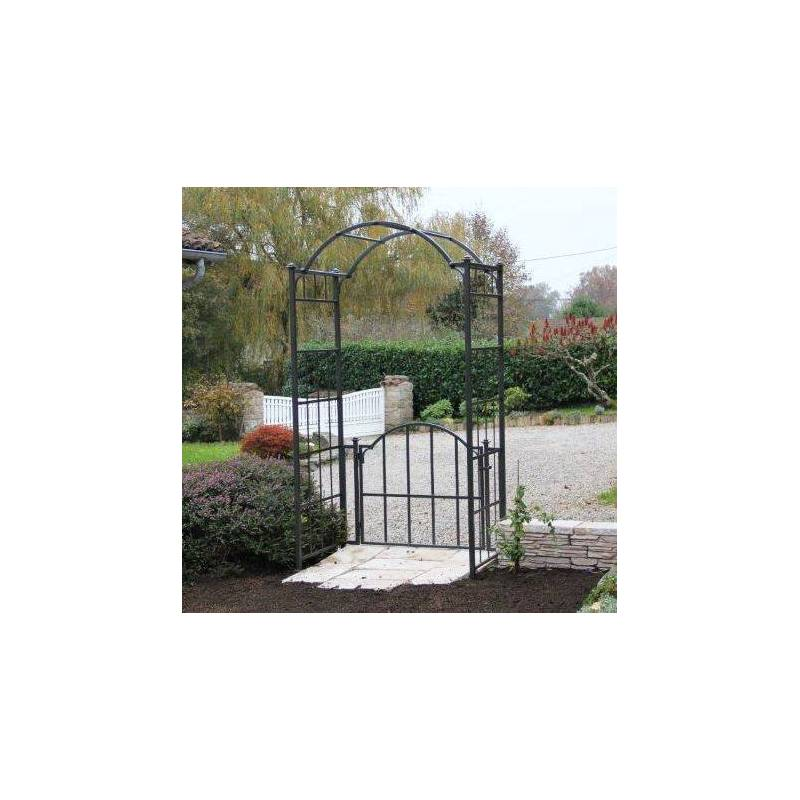 Arche portillon classic garden portail arche rosiers de jardin en fer forg ma ebay - Portillon de jardin en fer ...