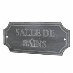 Plaque Déco Salle de Bains en Fer