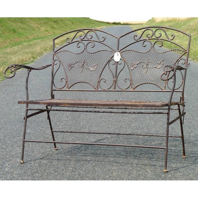 Banquette salon de jardin en fer forge for Chaise en fer forge pas cher