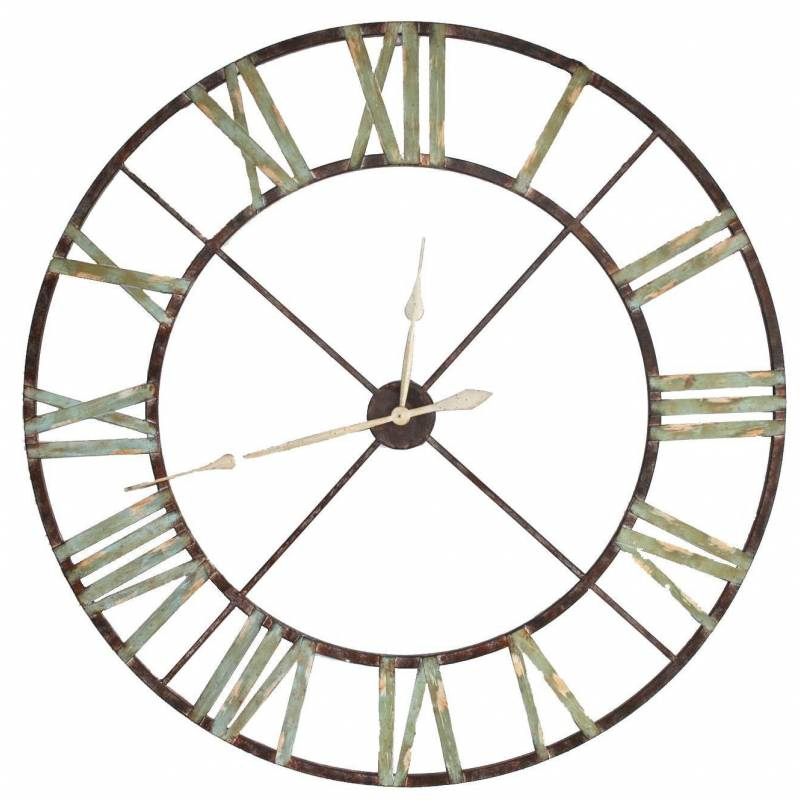 Pin horloge grande horloge murale a c b cm de style for Horloge murale fer forge