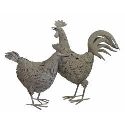 Couple Magestueux Poule et Coq