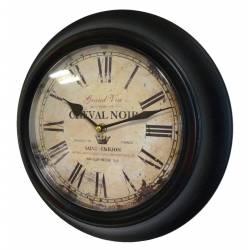 Horloge Murale en Fer Noir