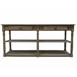 Table de Drapier en Vieux Bois
