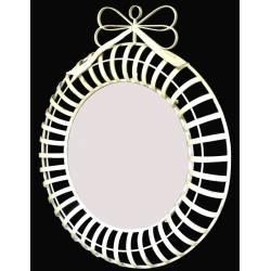 Miroir Mural Rond en Fer Blanc