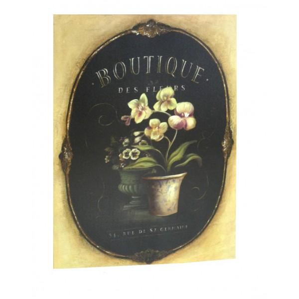 Tableau Boutique des Fleurs 35x45