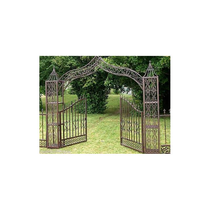 Grand portail d coratif porte arche de jardin s paration for Petit portail en fer
