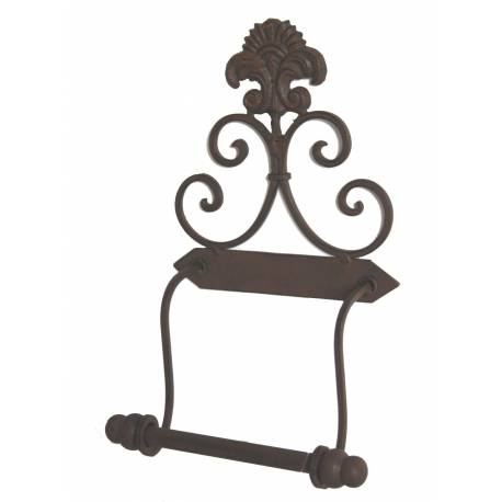 porte papier toilette mural motif fleur de lys ou d roule. Black Bedroom Furniture Sets. Home Design Ideas