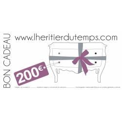 Chèque Cadeau de 200 €