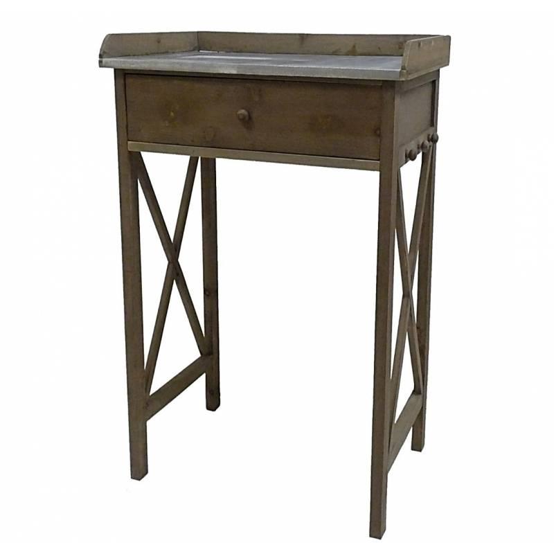 Table cuisine tiroir 2x table blanc cru av tiroirs for Table avec tiroir cuisine