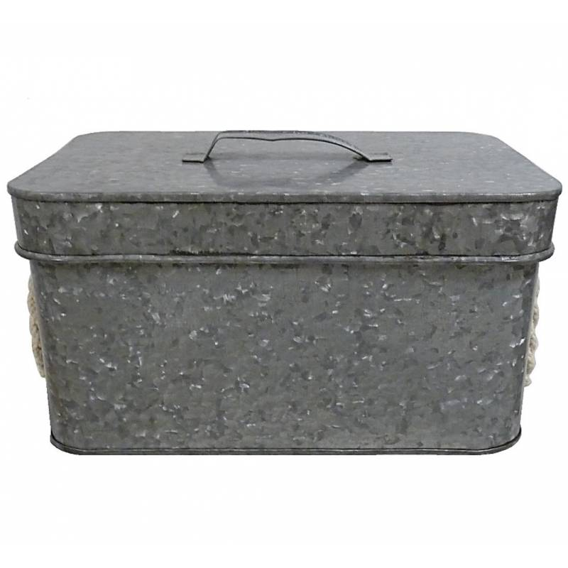 petite boite cantine de rangement m tallique malle jouets coffre photos valise v ebay. Black Bedroom Furniture Sets. Home Design Ideas