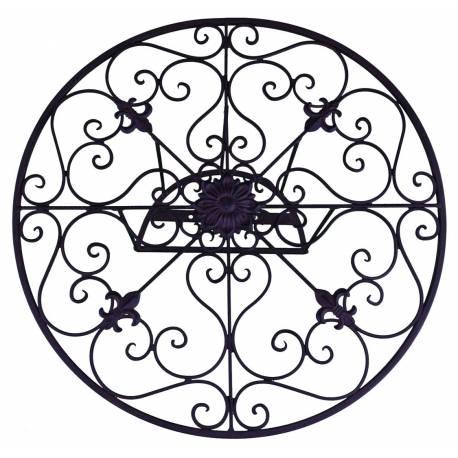 D roule tuyaux motif fleur de lys mural ou enrouleur for Arrosage exterieur