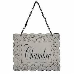 """Plaque Porte Blanche Chambre """""""""""