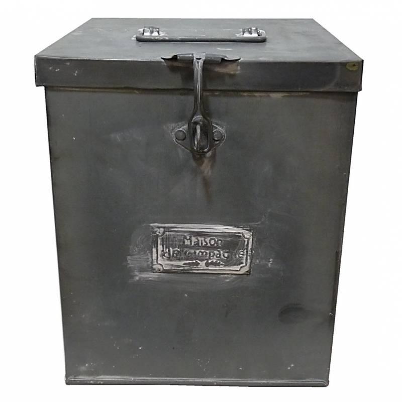 moyenne boite malle ancienne caisse recettes cuisine coffre rangement bo te photos m tallique en. Black Bedroom Furniture Sets. Home Design Ideas