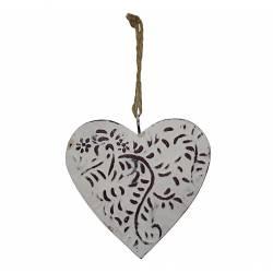 Coeur décoratif Motif Floral 10cm