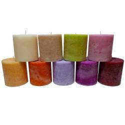 Bougie de Cire Parfumée Fruitée ou Florale Cylindrique pour Photophores ou à Poser 10x10x10cm