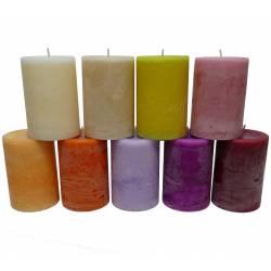 Bougie de Cire Parfumée Fruitée ou Florale Cylindrique pour Photophores ou à Poser 7x7x10cm