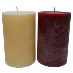 Bougie de Cire Parfumée Fruitée ou Florale Cylindrique pour Photophores ou à Poser 10x10x15cm