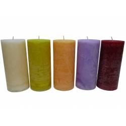 Bougie de Cire Parfumée Fruitée ou Florale Cylindrique pour Photophores ou à Poser 7x7x15cm