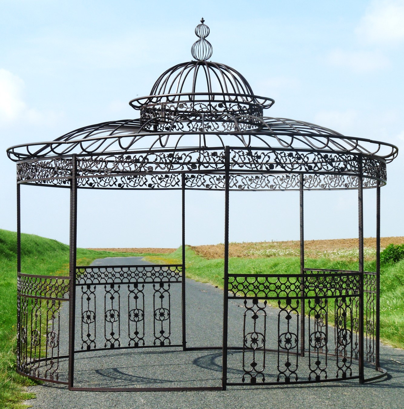 Gloriette fer forge fashion designs - Pergolas de jardin ...
