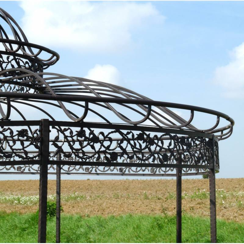 Grande tonnelle kiosque de jardin pergola abris rond kiosque en fer forg et - Tonnelle jardin fer forge ...