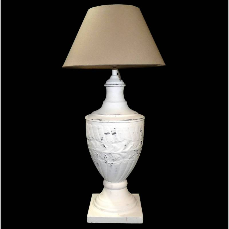 Grande lampe electrique poser luminaire de chevet en fer for Abat jour lampe de chevet