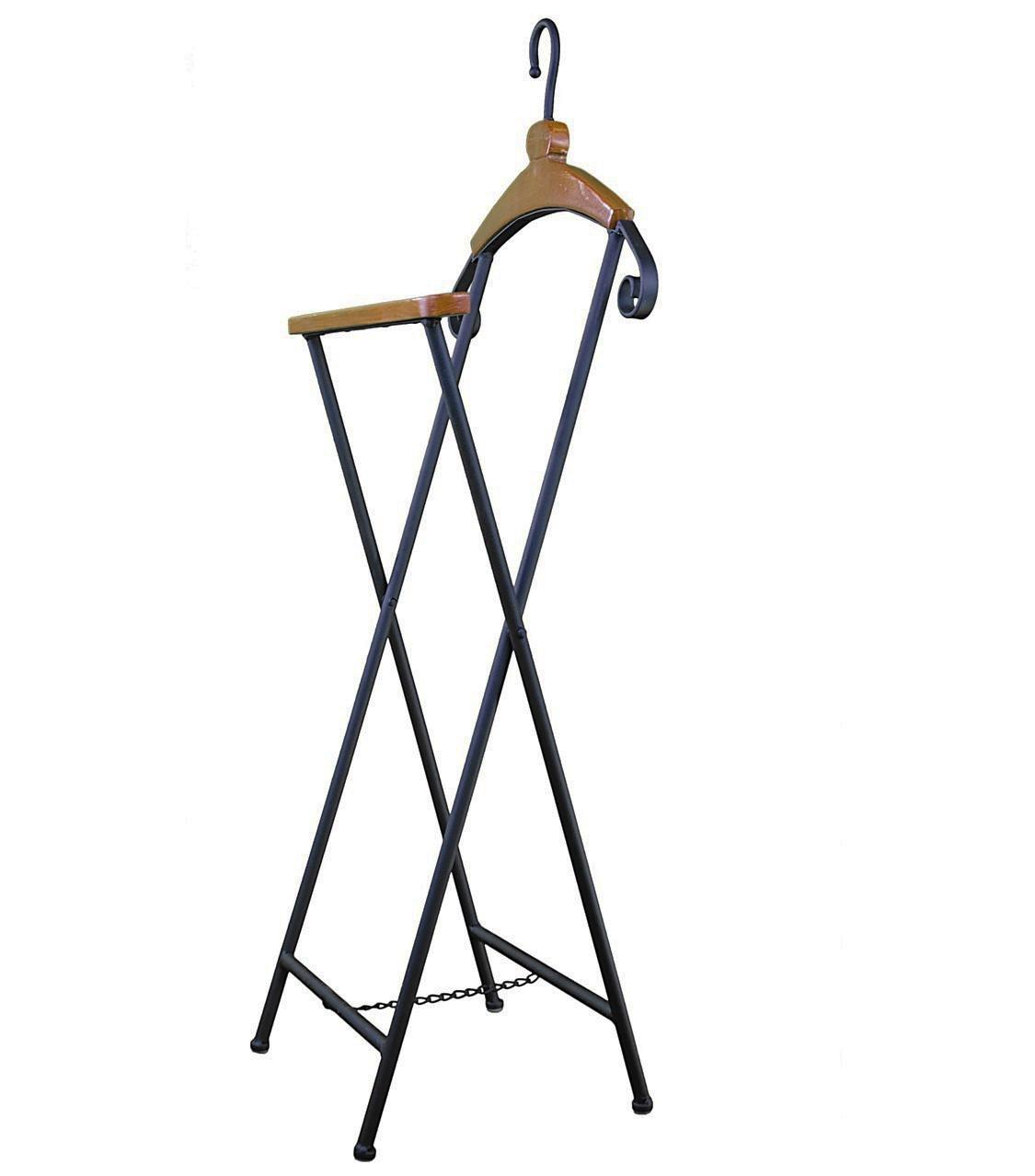 valet de chambre ou dressoir porte vtement de nuit en fer et bois patin noir 25x47x116cm lhritier du temps
