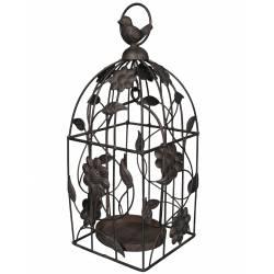 Cage Bougeoir à Suspendre Marron