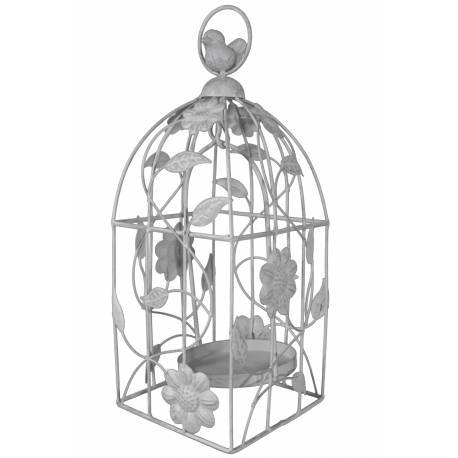 cage oiseaux style bougeoir ou voli re d corative motifs oiseaux suspendre en fer patin. Black Bedroom Furniture Sets. Home Design Ideas
