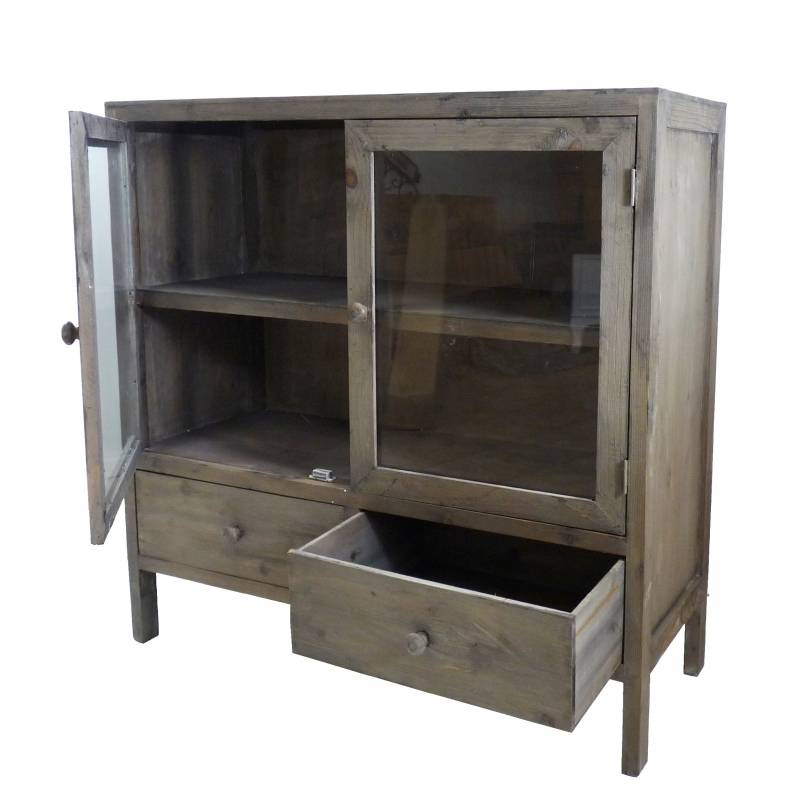 Bahut de cuisine 2 portes confiturier petit vaisselier for Meuble vaisselier cuisine