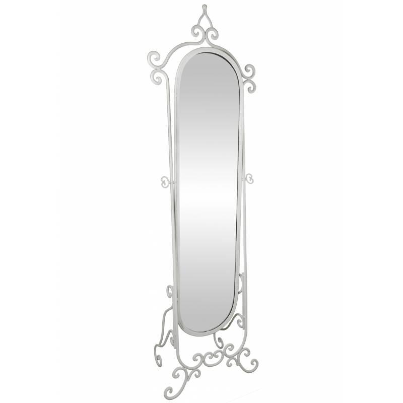 Grand miroir psych sur pied glace orientable meuble de for Miroir a poser sur meuble