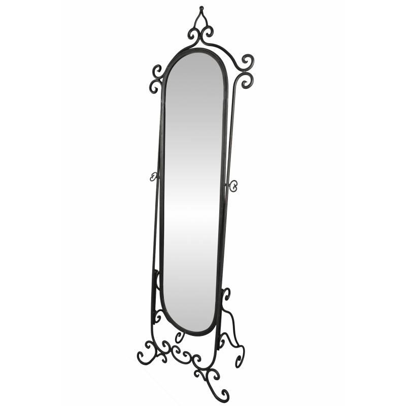 Grand miroir psych sur pied glace orientable meuble de for Miroir psyche
