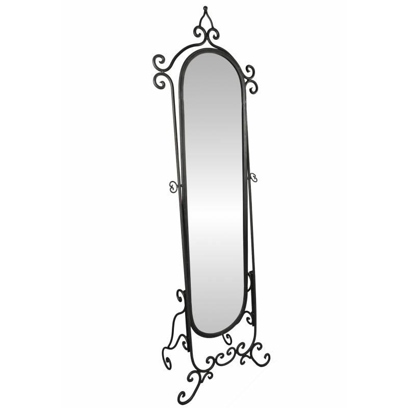 Grand miroir psych sur pied glace orientable meuble de for Psyche miroir sur pied