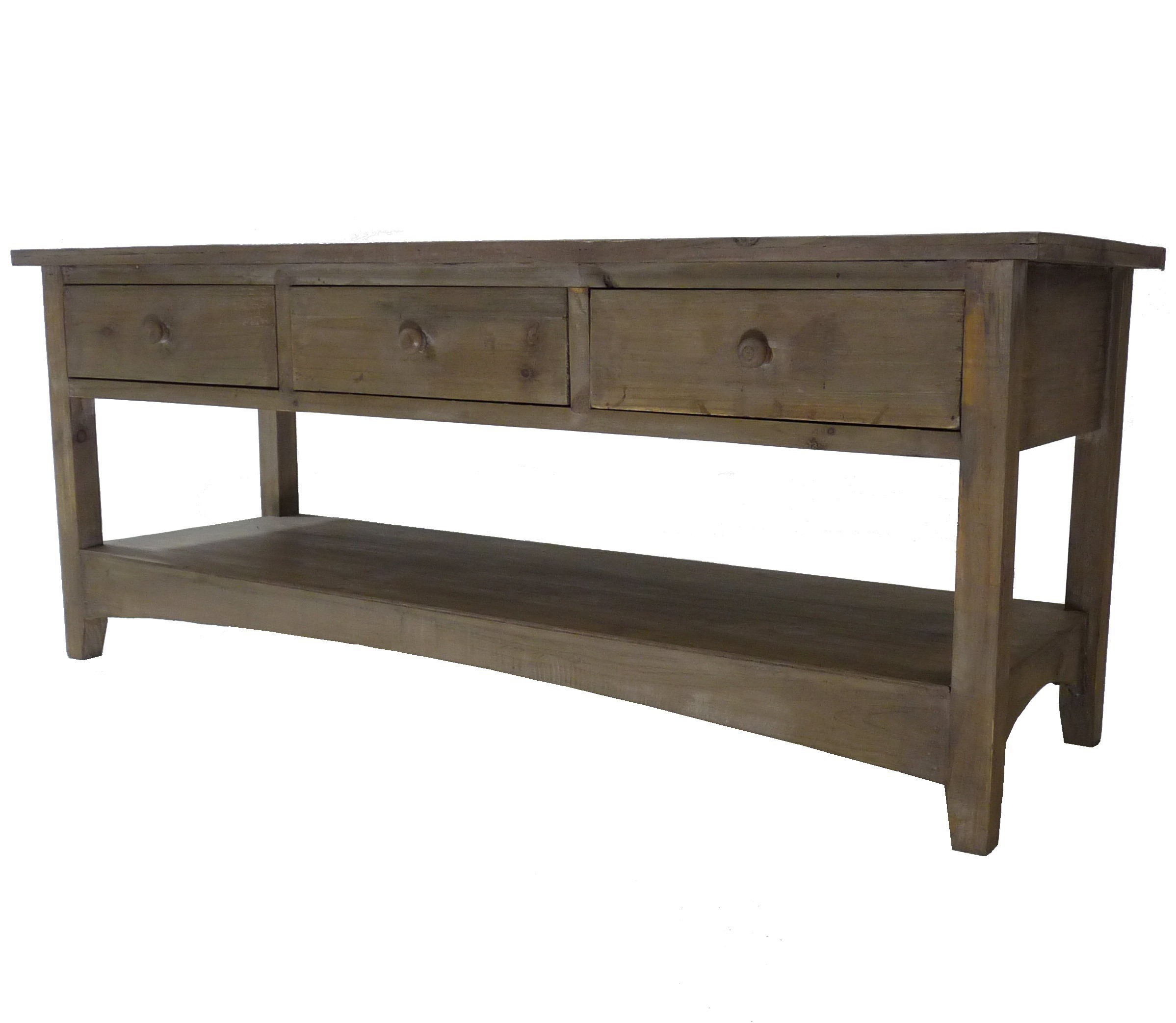 Console Table Basse Rectangulaire Meuble T L Tv 3 Tiroirs En  # Meuble Tv Avec Table Basse