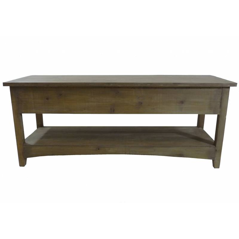 Console table basse rectangulaire meuble t l tv 3 for Meuble tv bois 110 cm