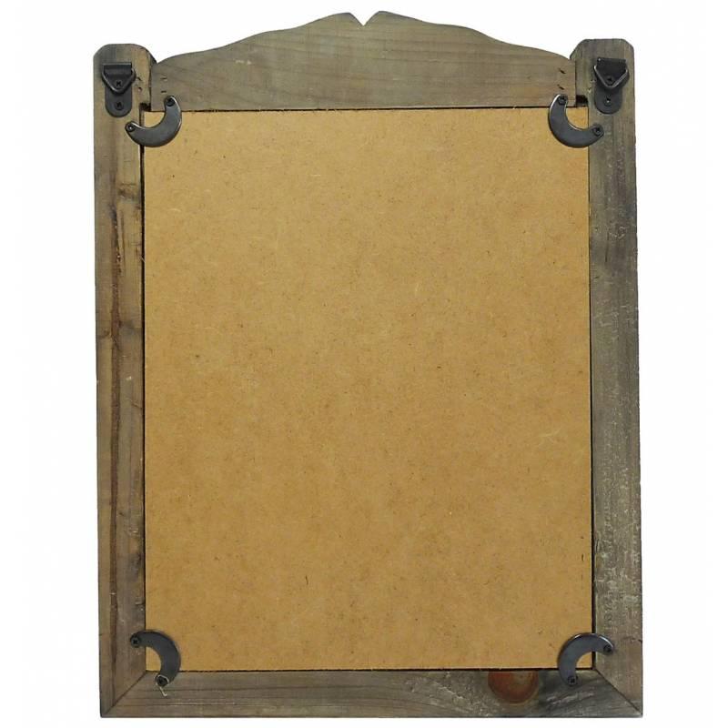 Petit miroir mural ou poser glace rectangulaire en bois for Miroir trompe l oeil fenetre