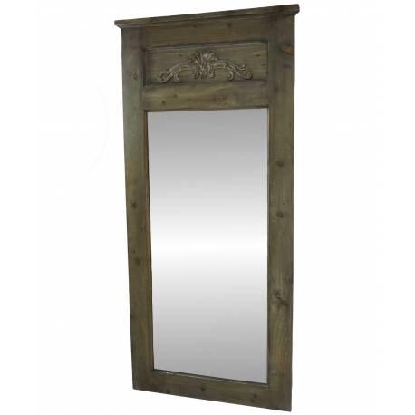 Grand Miroir Trumeau en Bois