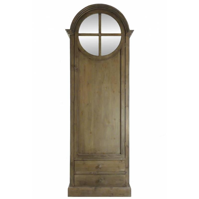 Bonnetiere avec miroir ancienne for Meuble haut porte miroir