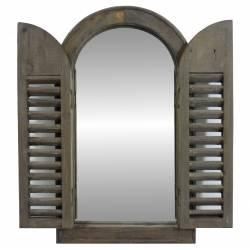 Miroir à Volets en Bois 52cm