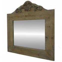 Miroir en Bois Vieilli 66x63cm