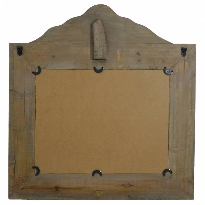 Miroir trumeau glace murale rectangulaire en bois vieilli 2x63x66cm l 39 h ritier du temps for Glace rectangulaire