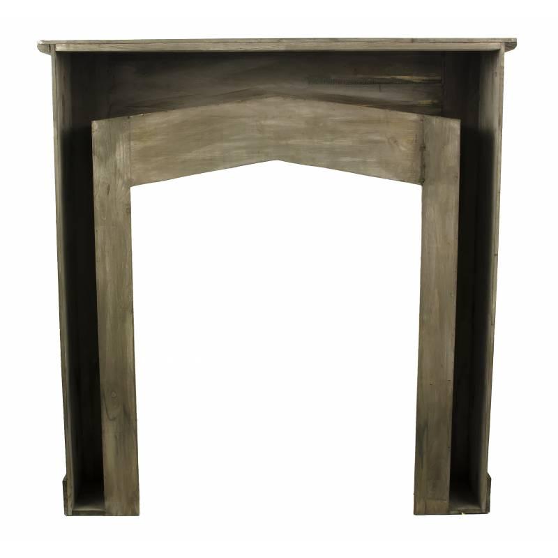 Entourage décor manteau de cheminée façade encadrement en bois 21x105x110cm