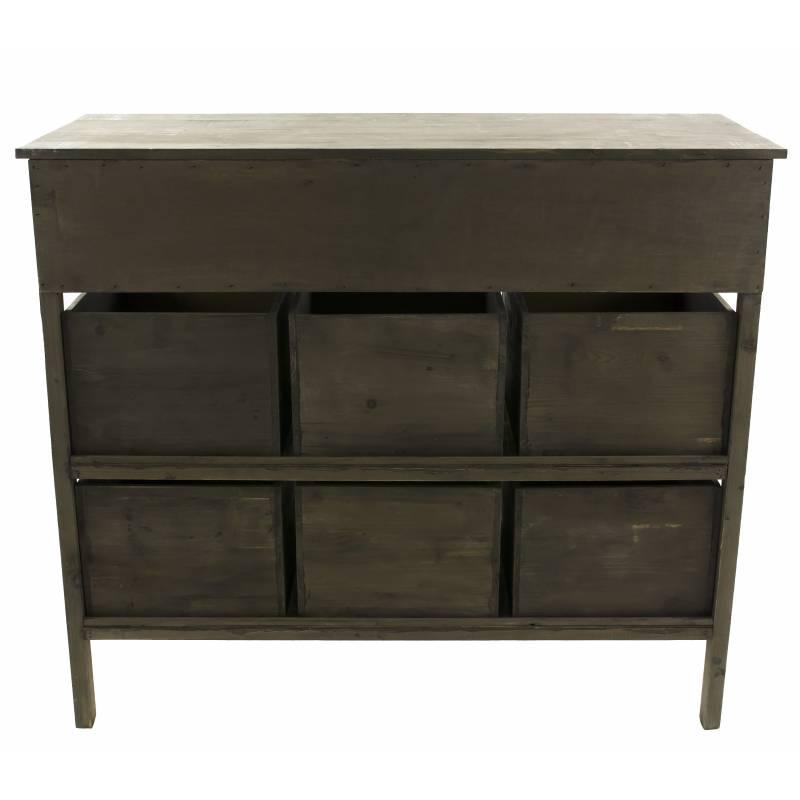 Console de rangement meuble de drapier ou table de for Brocante en ligne meuble