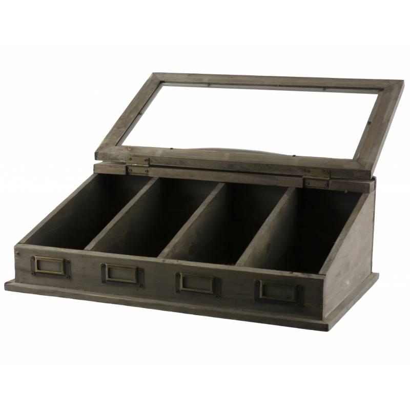 coffret de rangement boite couverts et th s 4. Black Bedroom Furniture Sets. Home Design Ideas