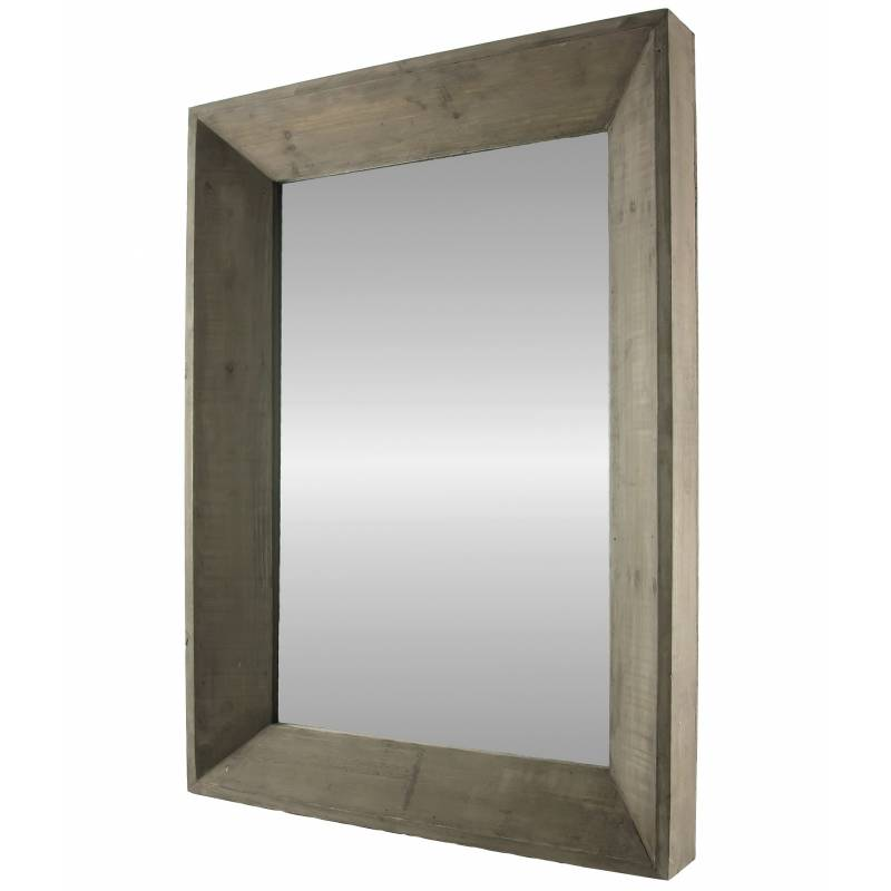 Grand miroir rectangulaire glace murale trumeau de for Glace murale