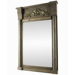 Miroir de Cheminée Glace Murale Miroir Décoratif Façon Trumeau Rectangulaire en Bois 7x58x86cm