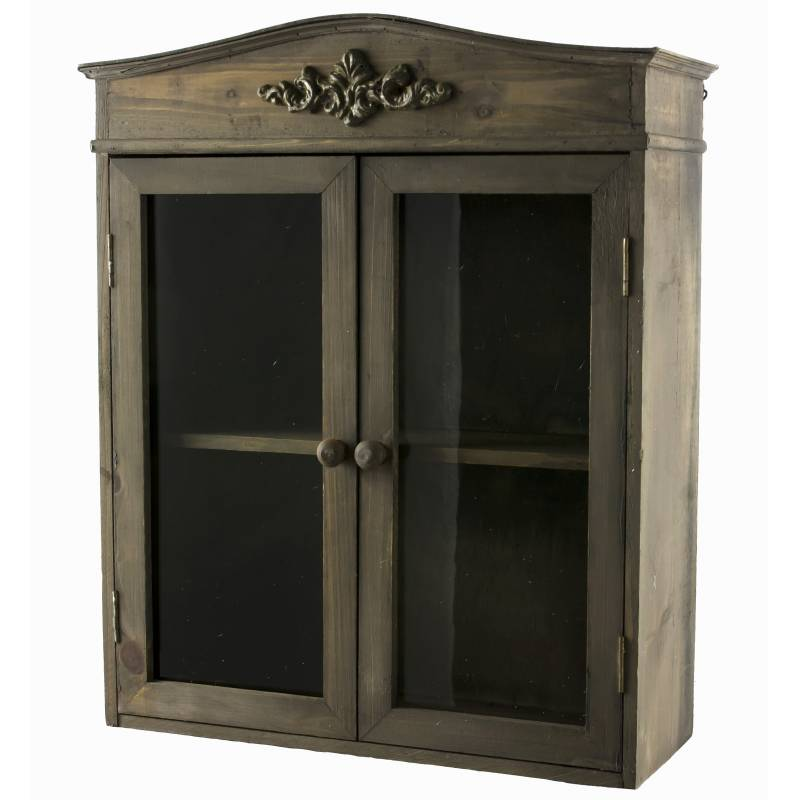 etag re de rangement ou epices murale vitr e fa on petite armoire pharmacie en bois 2. Black Bedroom Furniture Sets. Home Design Ideas