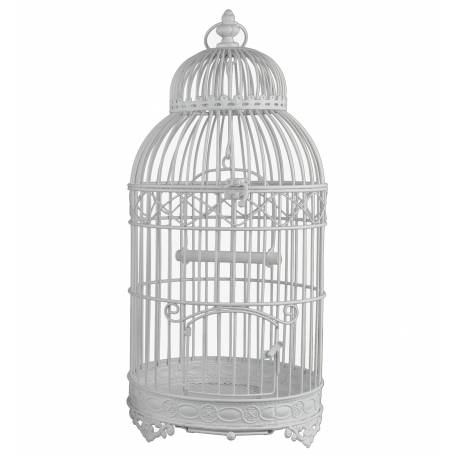 Cage Rondes Blanche Fer 37cm
