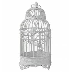 Cage Rondes Blanche Fer 46cm